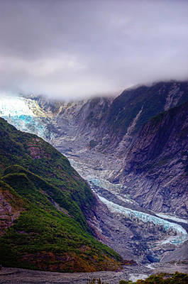 Photograph - Franz Josef Glacier In The Mist by Harry Strharsky
