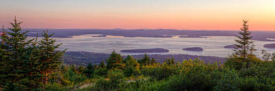 Photograph - Frenchman's Bay From Cadillac Mountain Panorama by At Lands End Photography