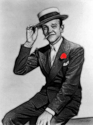 Fred Astaire Art Print by Maciek Froncisz
