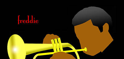 Digital Art - Freddie Hubbard by Victor Bailey