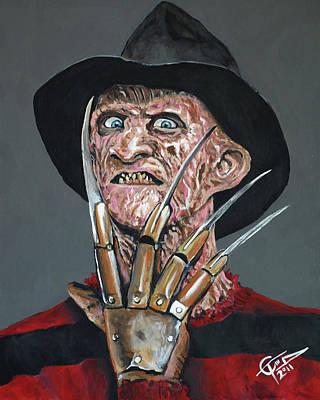 Freddy Kruger Painting - Freddy Kruger by Tom Carlton