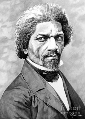 Douglass Drawing - Frederick Douglass by Elizabeth Scism