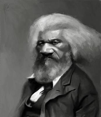 Jumaane Sorrells Painting - Frederick Douglass by Jumaane Sorrells-Adewale