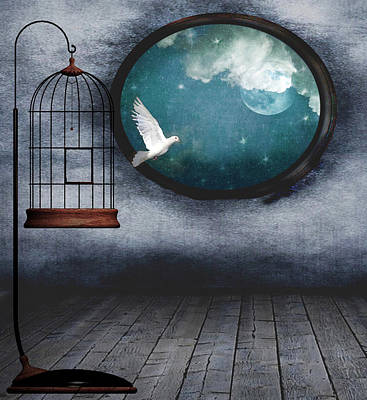 Free As A Bird Art Print by Marie  Gale