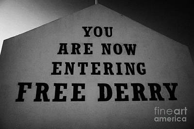 Free Derry Bogside Northern Ireland Art Print