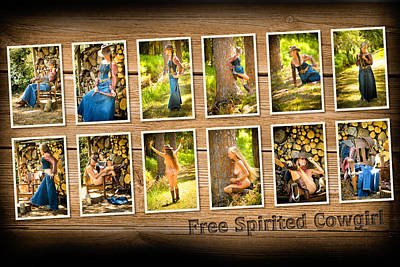 Photograph - Free Spirited Cowgirl by Nancy Taylor