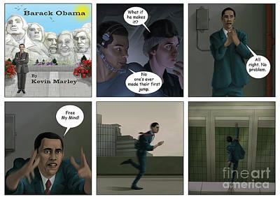Obama 2012 Digital Art - Free Your Mind II by Kevin  Marley