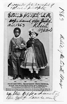 Liberated Photograph - Freedmen School, 1863 by Granger