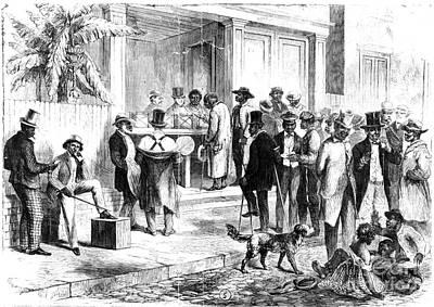 Ballot Wall Art - Photograph - Freedmen Voting, 1867 by Granger