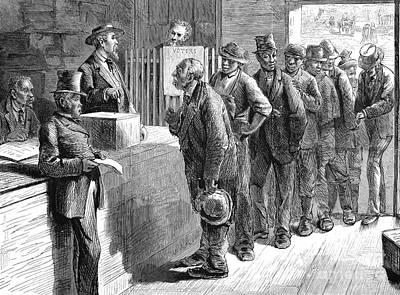 Ballot Wall Art - Photograph - Freedmen Voting, 1871 by Granger