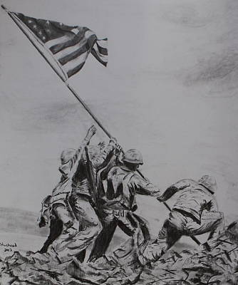 Drawing - Freedom by Brian Hustead