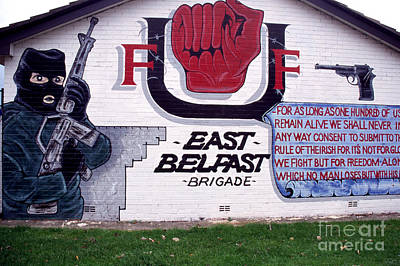 Freedom Corner Mural Belfast Art Print by Thomas R Fletcher