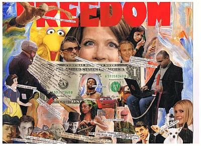 Joe Paterno Mixed Media - Freedom by Frank Zabohonski