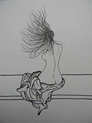 Drawing - Freedom by Marwan George Khoury