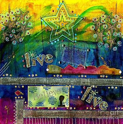 Mixed Media - Freedom To Believe - Freedom To Live by Angela L Walker