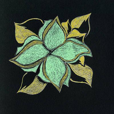 Abstract Gel Pen Drawing Drawing - Freeform Six by Bettye  Harwell