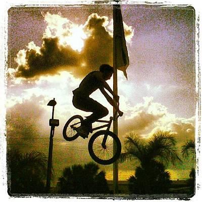 Freestyle Photograph - #freestyle #bmx #stunt #biking by Jose Urena