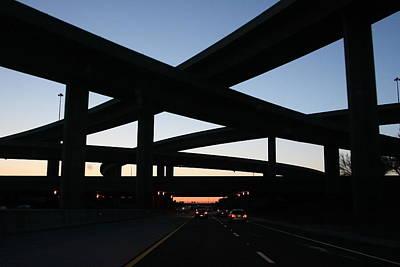 Absract Photograph - Freeway Interchange by John Nelson