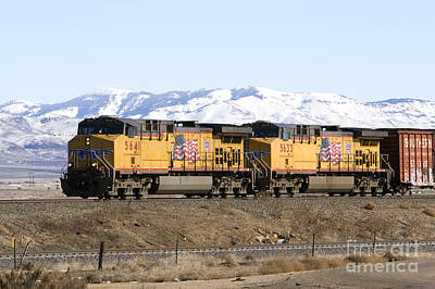 Freight Train East Of Boise Art Print by David R Frazier and Photo Researchers