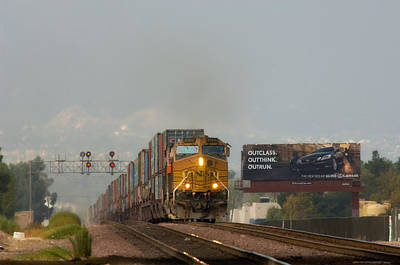Photograph - Freight Train by Gary Rose