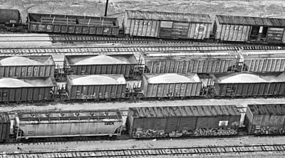 Freight Trains Art Print