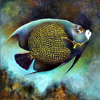 Painting - French Angelfish by Nancy Tilles