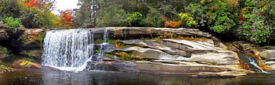 Photograph - French Broad Waterfall In The Fall 3 Near Balsam Grove Nc by Duane McCullough