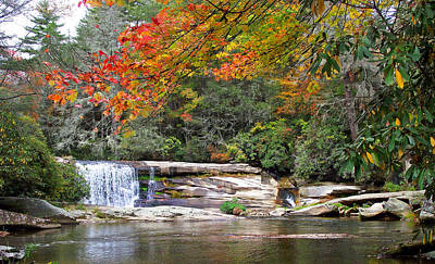 Photograph - French Broad Waterfall In The Fall by Duane McCullough