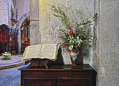 Art Print featuring the photograph French Church Decorations by Dave Mills