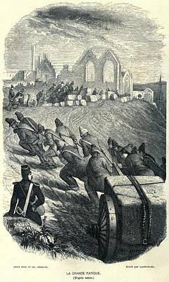 French Convicts At Hard Labor, Ca Art Print