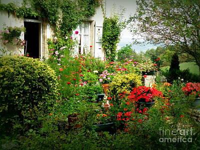 French Cottage Garden Art Print