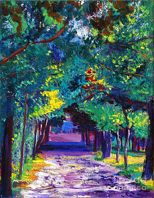Lavendar Painting - French Country Road by David Lloyd Glover
