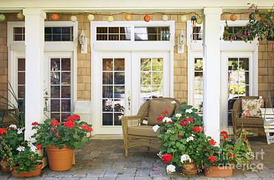 French Doors And Patio Art Print by Andersen Ross