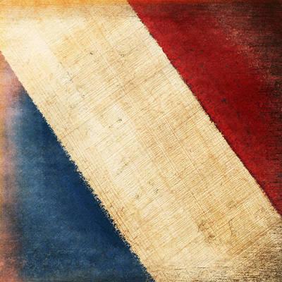 French Flag Art Print