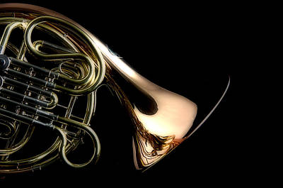 Photograph - French Horn Isolated by M K Miller