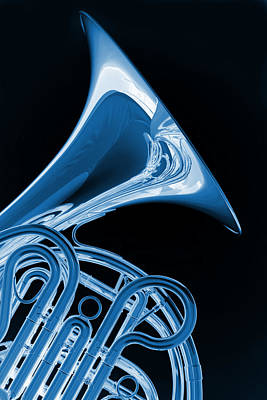 Photograph - French Horn Isolated On Black by M K Miller