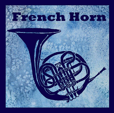 Brass Bands Digital Art - French Horn by Jenny Armitage