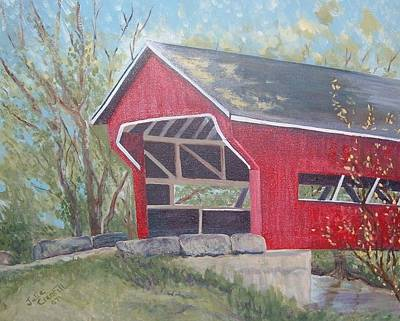 French Lick Covered Bridge Art Print by Julie Cranfill