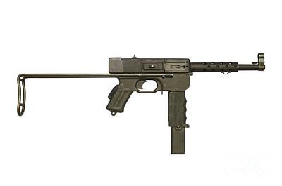 French Mat-49 Submachine Gun Art Print by Andrew Chittock