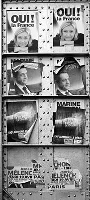 Photograph - French Political Posters 2 by Andrew Fare