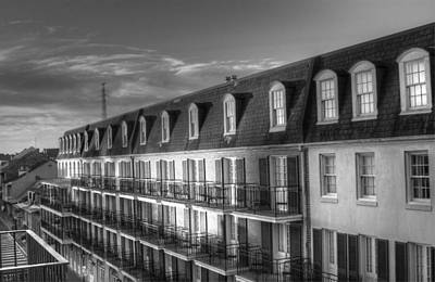 Black And White Photograph - French Quarter Balconies by Greg and Chrystal Mimbs