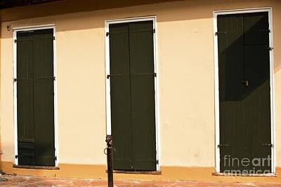 Leda Photograph - French Quarter Doors  by Leslie Leda
