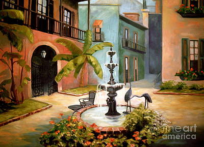 Painting - French Quarter Fountain by Gretchen Allen