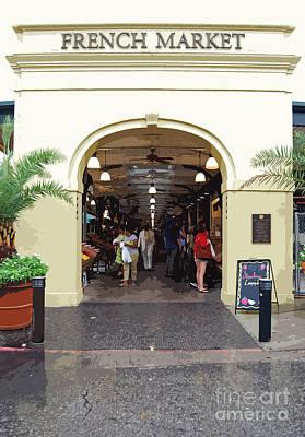 Digital Art - French Quarter French Market Entrance New Orleans Cutout  Digital Art by Shawn O'Brien