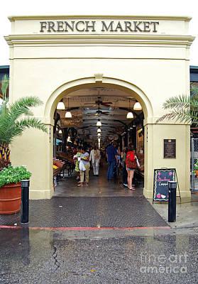 Big Easy Digital Art - French Quarter French Market Entrance New Orleans  by Shawn O'Brien
