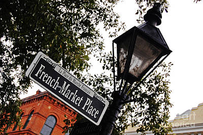 New Orleans Photograph - French Quarter French Market Street Sign New Orleans  by Shawn O'Brien