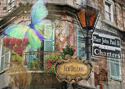 Digital Art - French Quarter Living by Ruby Cross