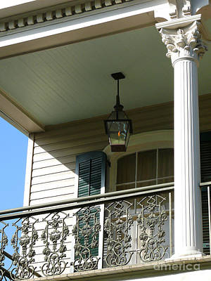 Art Print featuring the photograph French Quarter Porch by Jeanne  Woods