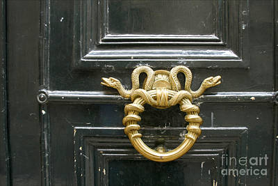 Art Print featuring the photograph French Snake Doorknocker by Victoria Harrington