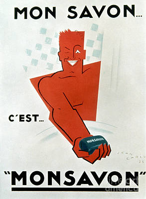 Photograph - French Soap Advertisement by Granger